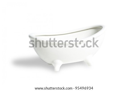 Close up of a white bath tub