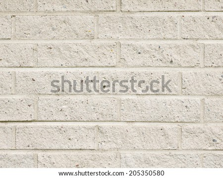 Close up of a white brick wall, textures and copy space - stock photo