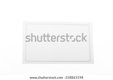 close up of  a white note paper on white foundation - stock photo