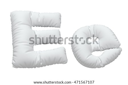 close up of a white pillow font. 3d rendering