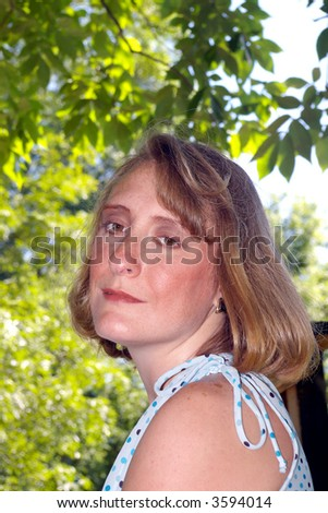 Close up of a woman posing in a state park