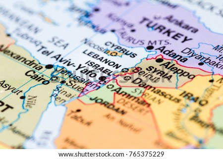 Close world map country israel focus stock photo download now close up of a world map with the country of israel in focus gumiabroncs Images