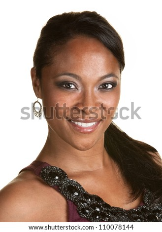 Close up of a young confident Black woman - stock photo