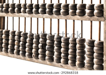 Close-Up Of Abacus, picture financial concept - stock photo