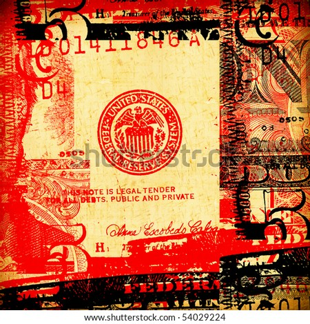 Close up of abstract US dollar - stock photo