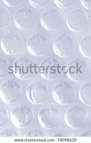 Close up of air bubble wrap sheet background - stock photo