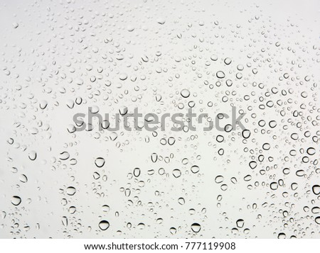 Close up of air bubbles in the water isolated on white background