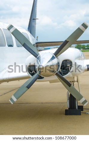 Close up of aircraft propeller