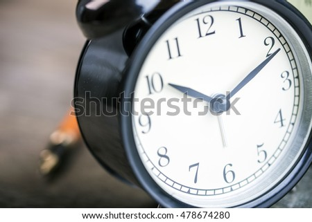 close up of alarm clock