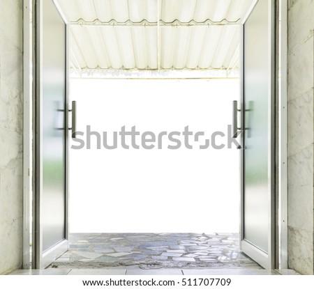 Genial Close Up Of Aluminum Glass Door Open To Outdoor.