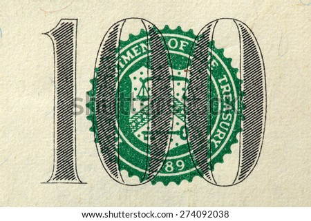 Close up of american dollar bill - stock photo