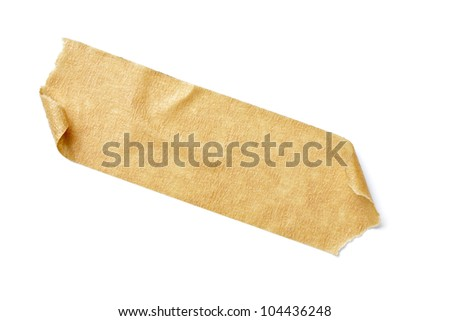 close up of  an adhesive tape on  white background with clipping path - stock photo