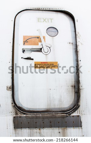 Close up of an airplane doorexternal view & Plane Door Stock Images Royalty-Free Images \u0026 Vectors | Shutterstock Pezcame.Com