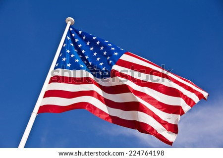 Close up of an american flag - stock photo
