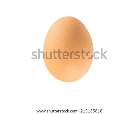 Close up of an egg isolated on white background with clipping path