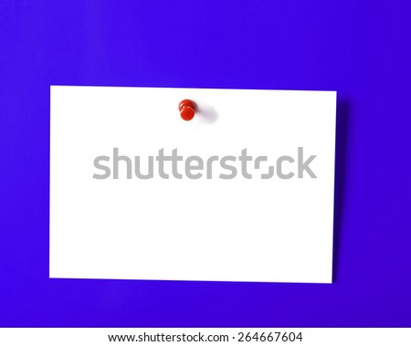 Close up of an empty Sticky on a wall - stock photo