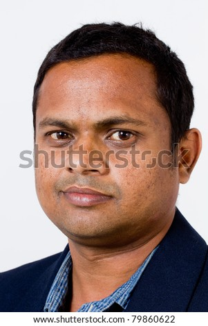 Close up of an Indian or Asian business executive