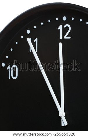 Close up of an office clock face - stock photo