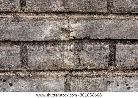 Close up of an old brick wall. - stock photo