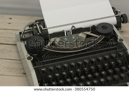 Close up of an old fashioned vintage typewriter.  - stock photo