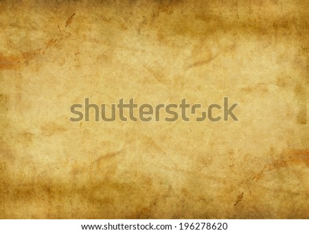 close up of an old parchment page - stock photo