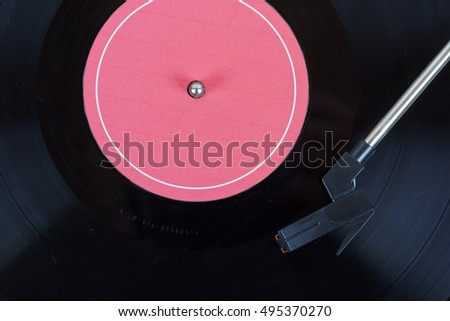 Close up of an old retro record player