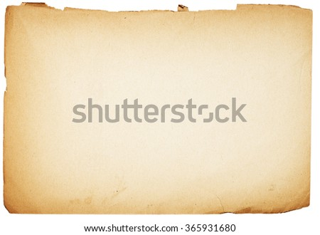close up of an old sheet on white background - stock photo