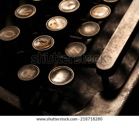 Close up of an Old Typewriter - stock photo