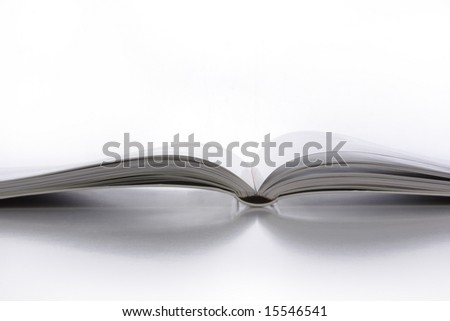 Close up of an open book