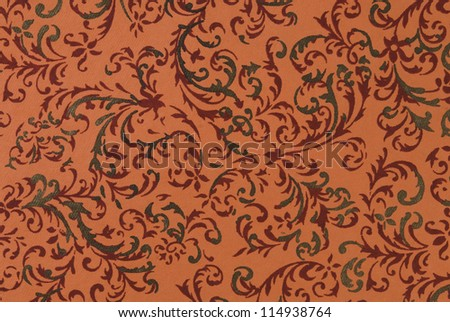 Close-up of an orange paper background