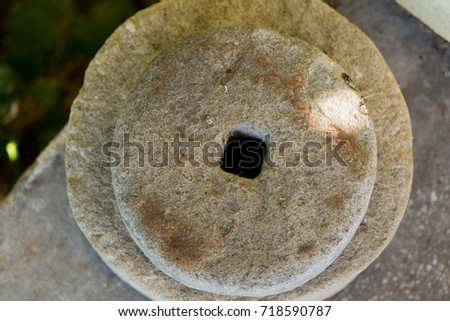 Ancient Grinding Stone Stock Images Royalty Free Images
