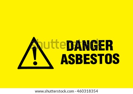 Close up of Asbestos Danger Warning Sign
