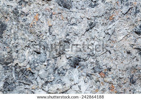 Close up of ashes background - stock photo