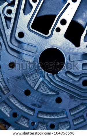 close up of automobile gear assembly - stock photo