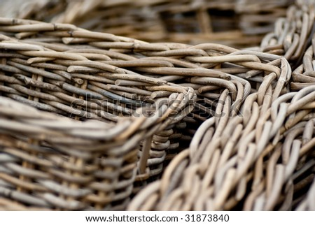 Close up of bamboo baskets