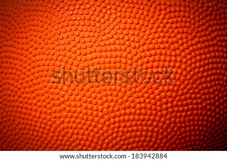 Close up of Basketball skin pattern for background and texture. - stock photo
