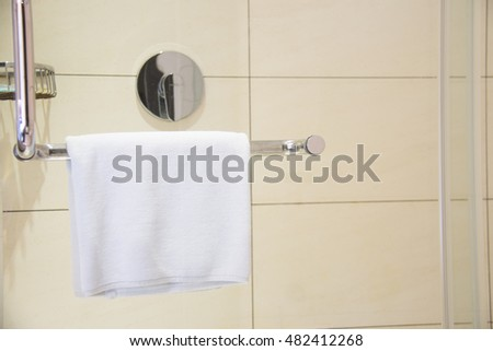 Close Up of bathroom towels