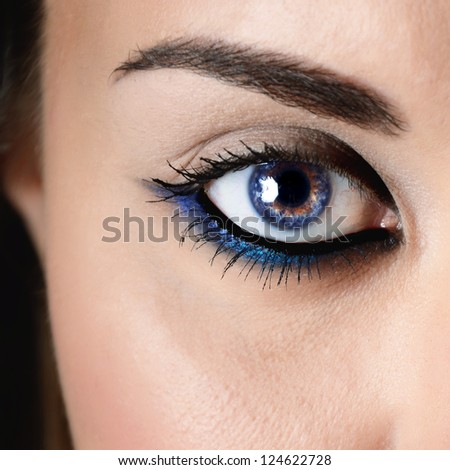 close-up of beautiful woman eye - stock photo