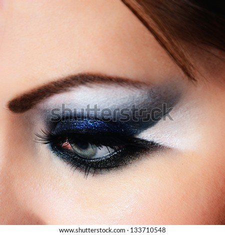 close-up of beautiful woman eye - stock photo
