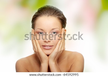 Close-up of beautiful woman face