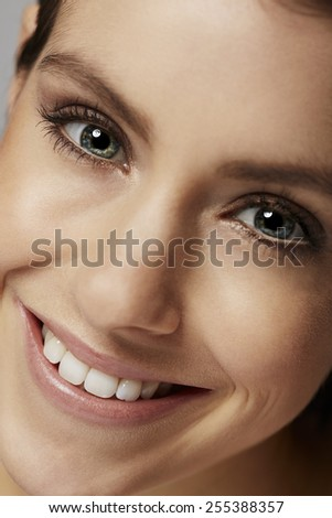 Close up of beautiful woman, smiling