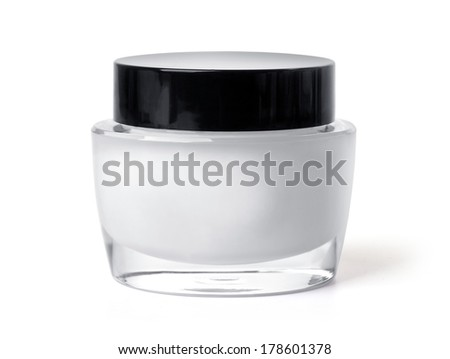 close up of beauty hygiene container isolated over white background. with clipping path - stock photo