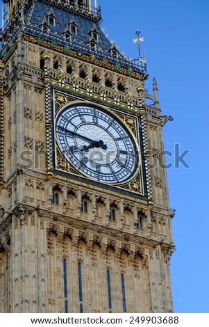Close up of Big Ben - stock photo