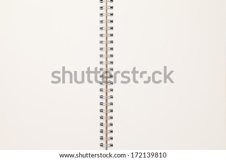 close up of blank notebook, full frame