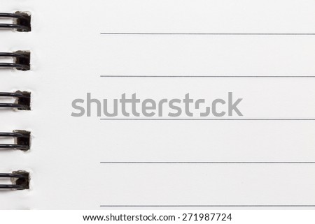 Close up of blank realistic spiral notepad notebook background - stock photo