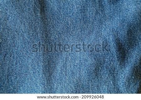 Close up of blue denim filling image. - stock photo
