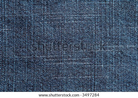 Close up of blue jeans denim texture background - stock photo