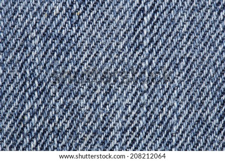 Close up of blue jeans texture background
