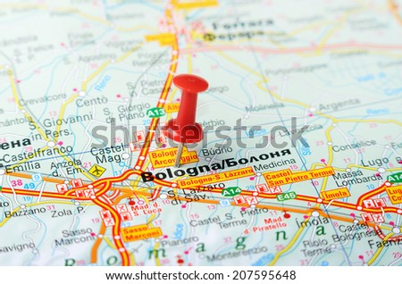 Close Ferrara Italy Map Red Pin Stock Photo Shutterstock - Ferrara map