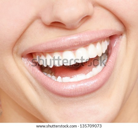 close up of bright smile with healthy teeth